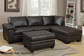 poundex f7766 brown leather sectional sofa steal a sofa
