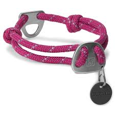 knot a collar for dogs by ruffwear purple dusk with same day