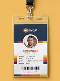 How To Make Employee Id Cards - id card template
