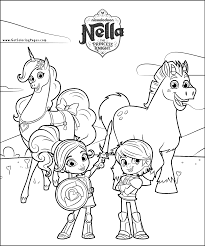 nella the princess knight coloring pages getcoloringpages com