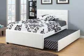 White Full Size Bedroom Furniture F9216f Cat 17 P135 Full Bed W Trundl W Slats White
