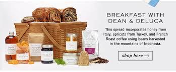 dean and deluca gift basket dean deluca breakfast in bed milled