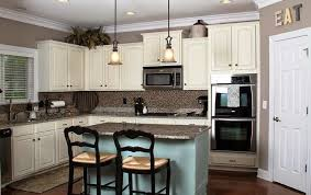 Paint Colours For Kitchen Cabinets by Wonderful Brown Painted Kitchen Cabinets With White Appliances