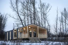 prefab cabins in the wild style