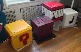 Super Mario Home Decor Minecraft Inspired Supply Storage Boxes Walnuthollowcrafts