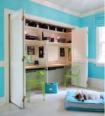 half closet half desk super cool creative workspace ideas for your home
