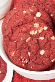 red velvet white chocolate chip cookies kitchme