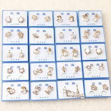 hypoallergenic earrings s korean fashion high grade zircon boxed color retention