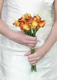 calla bouquet orange real touch calla wedding bouquet wedding