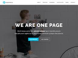 bootstrap themes free parallax onepress a free single page wordpress theme built with bootstrap 4