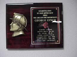 retirement plaque wording fighter awards