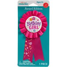 birthday ribbons birthday girl award ribbon walmart
