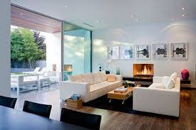 pastel blue walls and white ceilings minimalist house interior