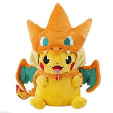 pikachu costume plush limited edition pikachu in mega charizard x y
