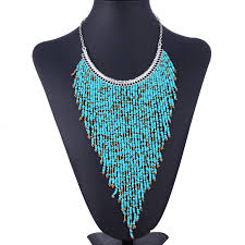 beaded necklace styles images 2015 fashion fake collar bead necklace long beaded tassel jpg