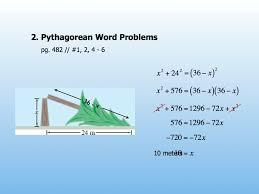 geometry u2013 day 68 u2013 pythagorean word problems u0026 distance formula