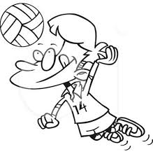 cartoon volleyball spike coloring download u0026 print