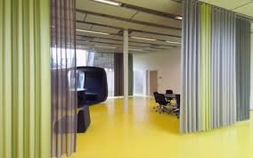 Room Separator Curtains Curtains On A Curved Track As Room Divider Curtain Ideas Dividers