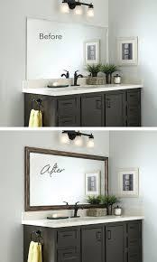 bathroom double sink bathroom mirror ideas glass vase table