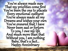message to my husband on our wedding anniversary you ve always made sure rvt563dc35 anniversaries
