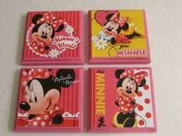 minnie mouse room wall plaques set of 4 minnie mouse girls