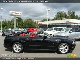 2010 Mustang Gt Black Black 2010 Ford Mustang Gt Premium Convertible Brick Red