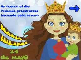 imagenes de virgen maria infantiles novena de mª auxiliadora para niños salesianos cooperadores