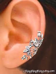 ear cuffs scottish thistle ear cuffs sterling silver earrings thistle