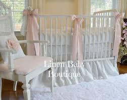 linen crib bedding etsy