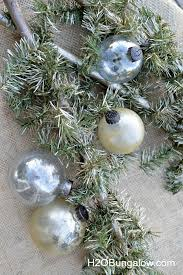silver and gold mercury glass decorations