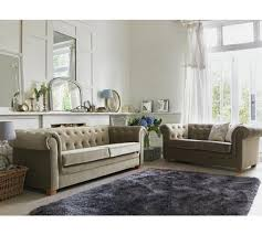 Fabric Chesterfield Sofa Buy Of House Chesterfield 3 Seater Fabric Sofa Mink At