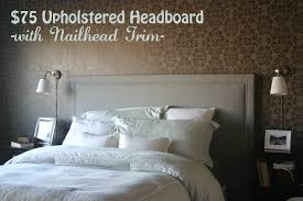 tufted headboard nailhead trim charming easy diy fabric headboard images inspiration amys office