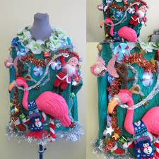 3 d flamingo tacky ugly christmas tropical delight sweater