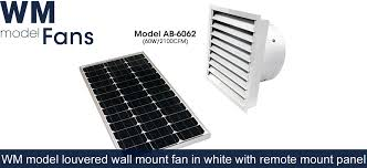 gable and wall mount fans