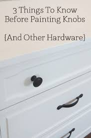how to spray paint cabinet hardware pin on diy