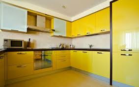 Yellow Kitchen With White Cabinets - kitchen colorful kitchen cabinet yellow painted yellow kitchen