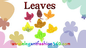 thanksgiving leaves clipart rainbow loom leaves charm fall autumn how to loom bands youtube