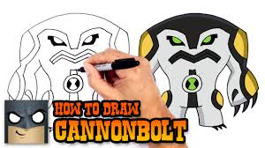 how to draw cannonbolt ben 10 youtube