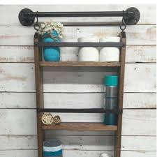 Bathroom Ladder Shelf by Ladder Shelf Rustic Bathroom Shelf Farmhouse Shelf