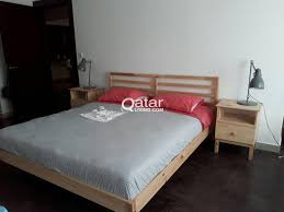 ikea double bed frame with spring mattress qatar living