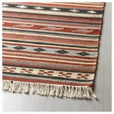 how to vacuum carpet kattrup rug flatwoven handmade rust 170x240 cm ikea