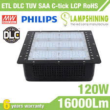 led gas station canopy lights manufacturers dlc 120w gas station led canopy light 133lm w