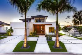 landscape modern house front yard landscaping with staggered