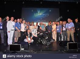 stephen hawking with starmus speakers joel parker steve balbus