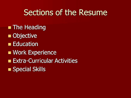 Special Skills On A Resume Resumes And Letters Of Application What Is A Resume A Personal