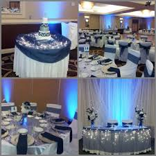 stylish silver and blue wedding decorations wedding guide