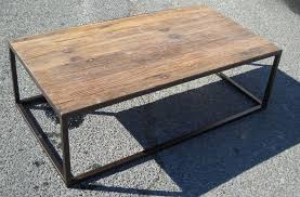 Rustic Metal Coffee Table Rustic Metal And Wood Furniture Photogiraffe Me