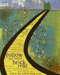 follow the yellow brick road with brains courage and lots of