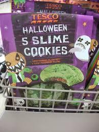 Asda Halloween Cakes Kev U0027s Snack Reviews Halloween Stuff Tesco Slime Cookies