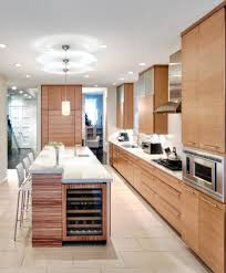 marvelous light wood cabinets kitchen contemporary with flat panel